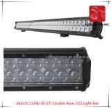 36inch 234W 4D ETI 도로 빛과 LED 모는 빛 떨어져 SUV 차 LED를 위해 방수 두 배 줄 LED 표시등 막대의 LED 차 빛