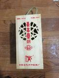 Rectángulo de madera impreso color caliente de la venta con la bisagra de China