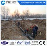 Magazzino/gruppo di lavoro prefabbricati industriali cinesi della struttura del blocco per grafici d'acciaio