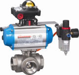 Válvula de borboleta pneumática para os atuadores dobro da ação (HAT-240D)
