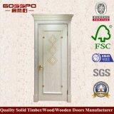 Puerta blanca de la chapa del MDF de la alta calidad del diseño moderno (GSP8-039)
