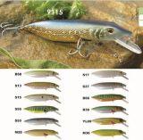amorce de 110mm Pike d'une première le prix bon marché usine --- La qualité a fait Crankbait de pêche en plastique dur fait sur commande - Wobbler - attrait de pêche de Popper de cyprins