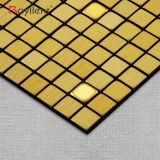[رولّنت] معدنيّة فسيفساء جدار لاصق فسيفساء يفرش لون ذهبيّة [ديي] غرفة حمّام زخرفة