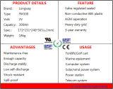 Batería de plomo recargable FM300 para el sistema de Telecome