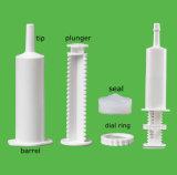 Marcar las jeringuillas plásticas de una dosis para empaquetar las gomas veterinarias, geles, las bate