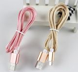 2 in 1 Fashionable Fabric Braided USB Charger für Andriod und iPhone