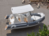 Liya 19ftの信頼できる中国の製造者の釣のための膨脹可能な娯楽ガラス繊維の外皮の肋骨のボート