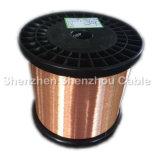 Alambre de aluminio revestido de cobre de la multa del alambre