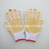 Перчатки поставленные точки PVC, перчатки работы, перчатки безопасности,