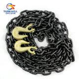 G80 court- la chaîne de levage de tige avec le crochet d'encavateur de chape