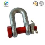 造られた結合リンクチェーンDの形の手錠
