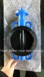 Nylon Coated клапан-бабочка вафли диска с ручкой
