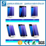 독점적인 나노미터 실크 인쇄 Samsung 은하 S7 가장자리를 위한 반대로 파란 가벼운 강화 유리 스크린 프로텍터 필름
