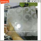 l'impression de Silkscreen de 3-19mm/gravure à l'eau forte acide/se sont givrés/plat de configuration/ont déplié Tempered/verre trempé pour l'hôtel, porte à la maison/guichet/douche avec le certificat de SGCC/Ce&CCC&ISO