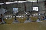 Aerostato gonfiabile dello specchio della sfera di cristallo del PVC della sfera gonfiabile gonfiabile dello specchio