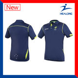 Healong OEM Coréia Ink Digital Mens Pringting Cricket T-Shirt com alta qualidade