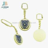 O ouro antigo grava o ouro Keychain do metal do esmalte de Panit para relativo à promoção