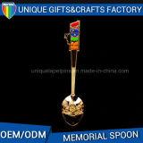 販売のためのカスタマイズされた柔らかいエナメルヘッド記念品のギフトの金属のスプーン