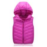 Детей зимы померанцовая цвета куртка 602 вниз