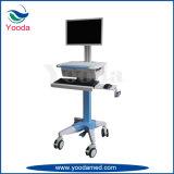 Krankenhaus-einfache Arbeitsplatz-Karre mit Drucker-Tellersegment