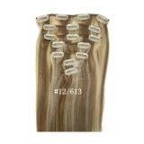 毛の拡張ブラジルの人間の毛髪の人間の毛髪の拡張ピアノカラークリップのクリップ