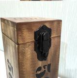 Rectángulo de madera del vino del estilo de la vendimia solo