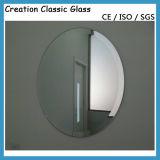 """Specchio dell'argento del vetro """"float"""", specchio libero dello strato di Frameless dello specchio d'argento della stanza da bagno"""