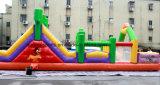 Casa do salto/corrediça combinado/cidade do divertimento/castelo Bouncy curso de obstáculo usado para a venda