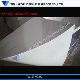 Scrittorio di ricezione di superficie solido acrilico di disegno della Banca della mobilia del contatore operato di ricezione