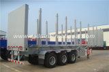 Bois de construction de faisceau de Staight de 3 essieux/remorque en bois de camion de transport