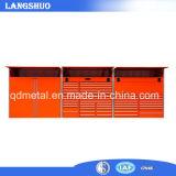 Polvo general del acero inoxidable cubrimos el pecho de herramienta con las ruedas que rodaban la caja de herramientas del metal hecha en China