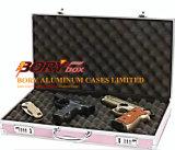 アルミニウムフレームによってパッドを入れられる挿入コンボCcwロック手銃は運ぶ雑誌陳列ケースを隠す