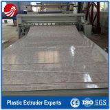 Línea de mármol artificial de la máquina de la protuberancia del perfil de la hoja del PVC