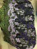Рука делает ткань шнурка сети прибытия Newet вышивки 3 d Rose для платья