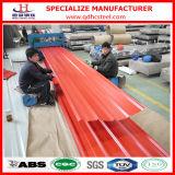 Matériau de toiture ondulé enduit enduit d'une première couche de peinture de tôle de la couleur PPGI