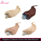 Extensões de cabelos com micro escala de cabelo da Virgem brasileira de 8A