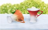 Taza de café de cerámica de la mariposa creativa Taza de té hermosa
