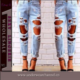 2016 Hot Sale Women Fashion Cotton Spandex Skinny Jeans (TXXL232)