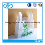 Sacs de transporteur en plastique de HDPE de traitement recyclable de gilet pour des achats