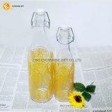 De hete Verkopende Flessen van het Glas van het Sap van de Drank met de Hoogste Deksels van de Schommeling