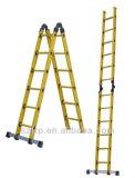 Escada de extensão de múltiplos propósitos amarela da fibra de vidro da escada da isolação FRP da cor