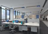 사무실 훈장을%s Sound-Absorbing LED 펀던트 램프를 가진 Uispair 20W 알루미늄 합금 바디