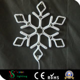 Het Licht van het Motief van de Sneeuwvlok van de Decoratie van Kerstmis