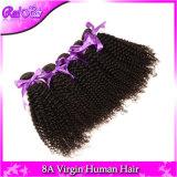 """O cabelo humano Curly do Afro Mongolian não processado do cabelo 4PCS de 7A Aliexpress tece a cor 32 natural Kinky das extensões 8 da onda do Virgin apertado """" - """""""