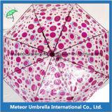Guarda-chuva transparente do presente da promoção do PVC da forma Foldable