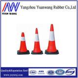 Laranja, cal, cone plástico verde do tráfego do PVC para a segurança de estrada