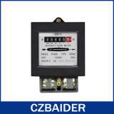 Contadores elegantes de la electricidad de la potencia estática activa del vatio-hora la monofásico (DD282)