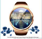 Reloj elegante de la nueva pantalla redonda con el monitor del ritmo cardíaco (K18)