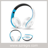 A música de dobramento colorida ostenta auriculares sem fio de Bluetooth V4.0