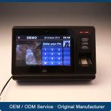 Sistema biométrico del control de acceso de Bluetooth de la atención del tiempo del lector de tarjetas de WiFi 3G RFID con software multilingue
